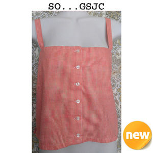 SO GSJC Orange Sleeveless Shirt XL NWT